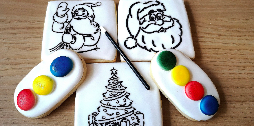 paint your own christmas cookie