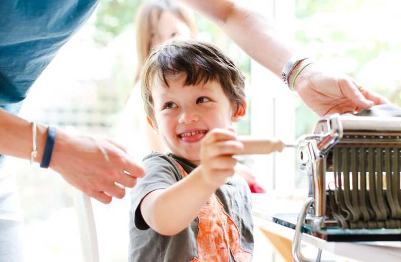 pasta making workshop for families in london