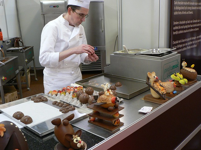 Chocolatier at work