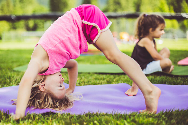 yoga at home with kids