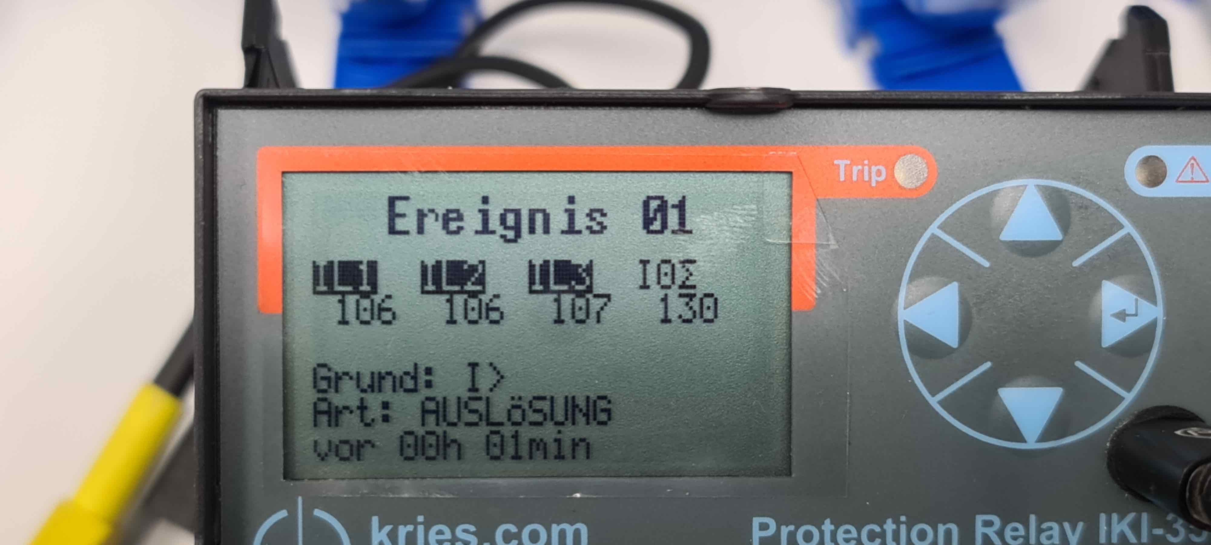 IKI-35, SEG, Kries, Schutzrelais, Erdschlussschutz, Schutzprüfung, Protection Relay, IKI35, IKI-35