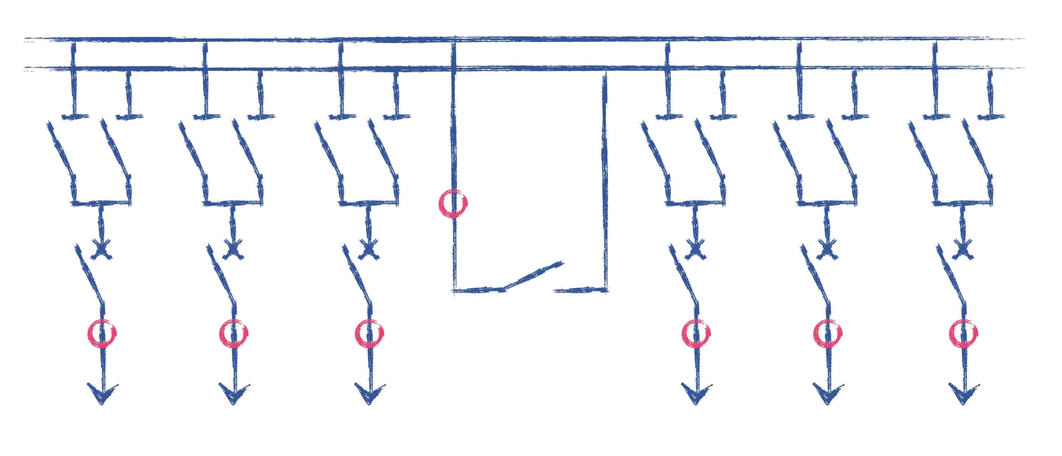 Sammelschienen Differentialschutz, Schalterabbild, Trennerabbild Checkzone,  7SS6, Sammelschienenschutz, 0, 7SS52,  REB670