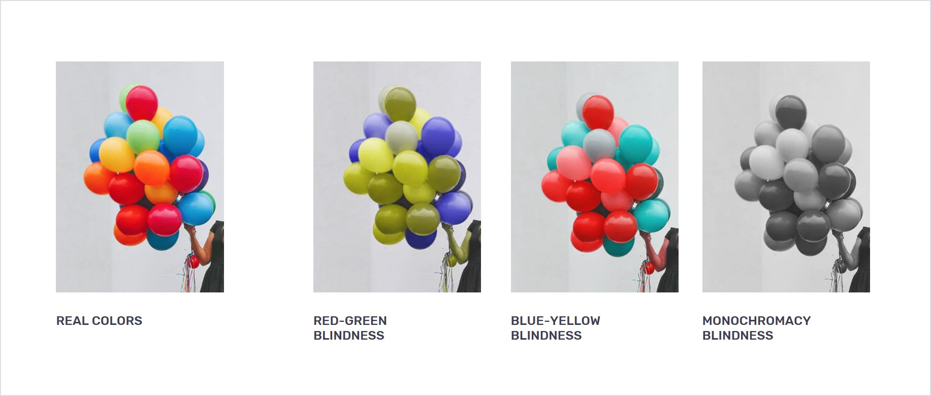 Visualization of color blindness