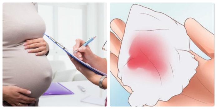 Ra máu màu nâu khi mang thai