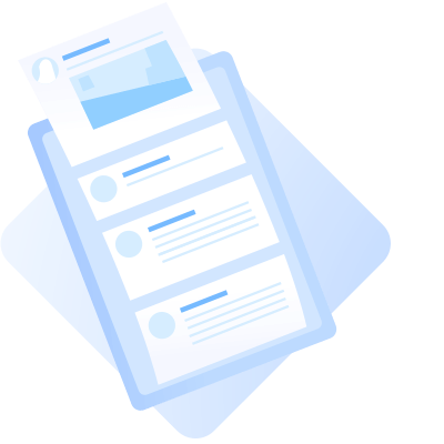 Illustration of clipboard and paper
