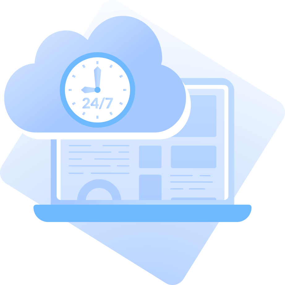 Uptime all the time illustration