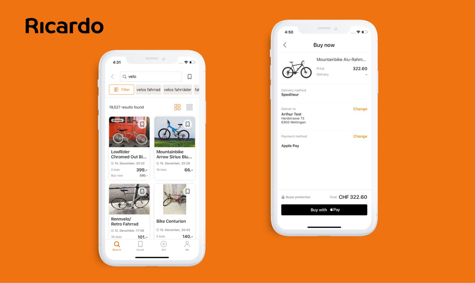 ricardo mobile commerce app