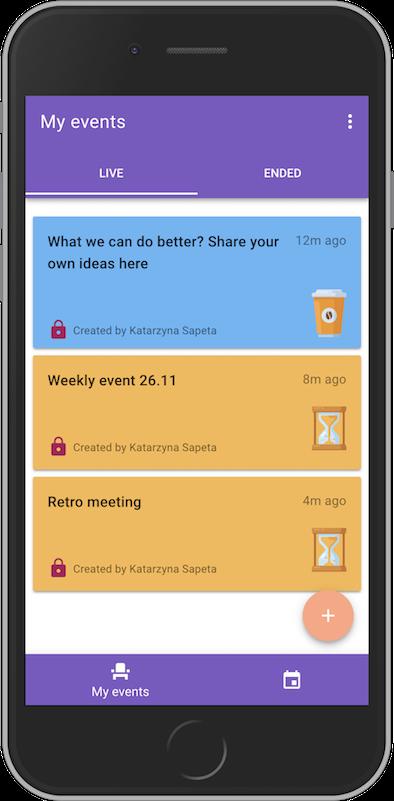 events in quickback app