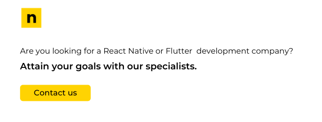 Flutter and React native developent company nomtek