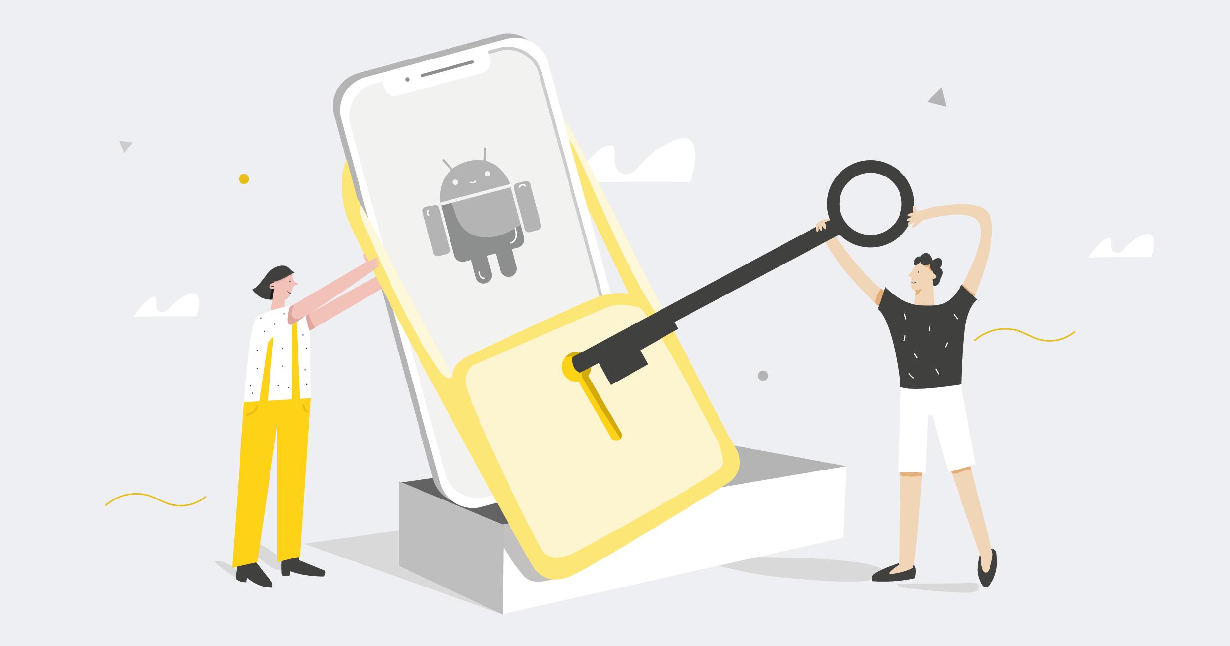 people unlocking android phone