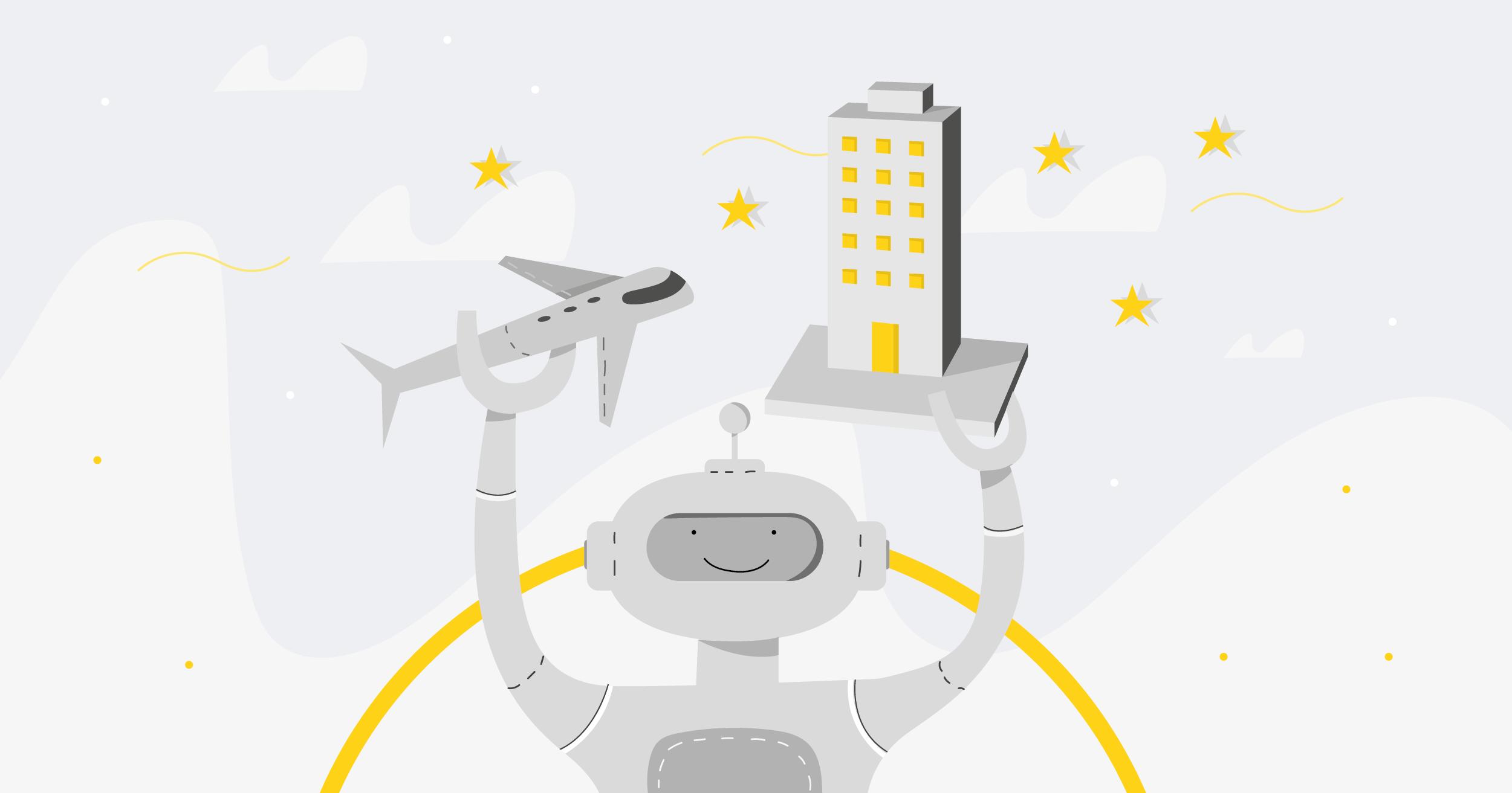 robot building plane chatbot assistant