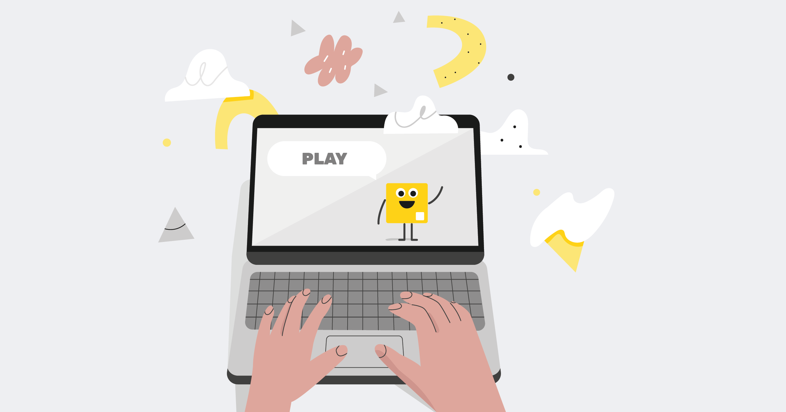 game on a laptop with invision