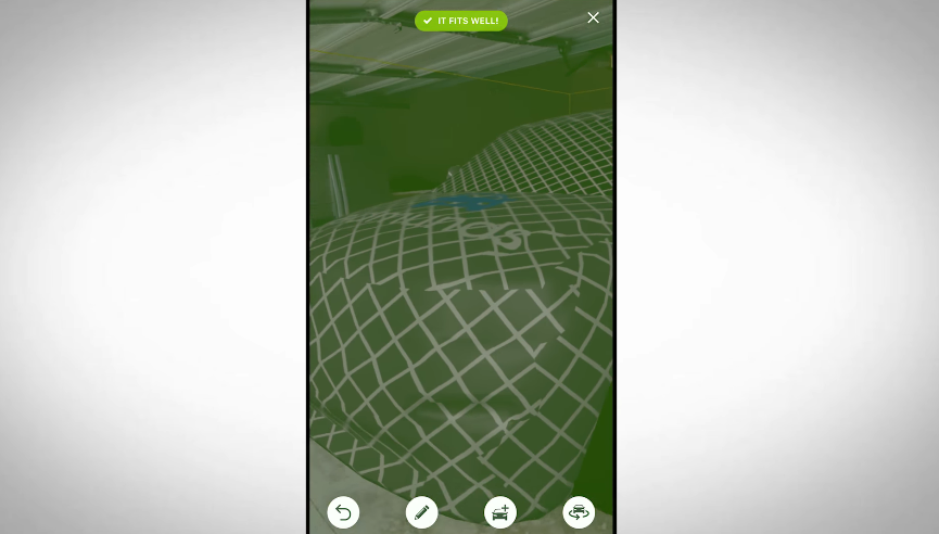 AR car-fitting feature for retailers