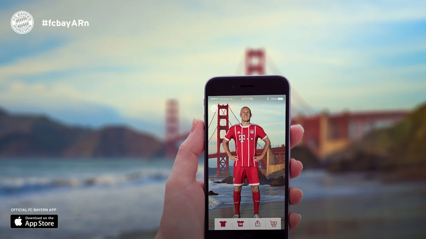 FC Bayern Munich's fan engagement AR experience
