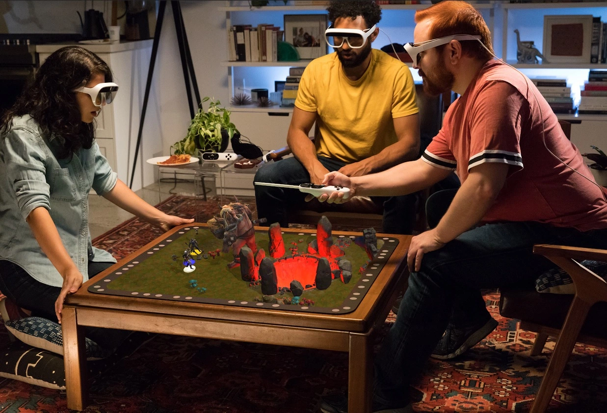 A board game with augmented reality elements
