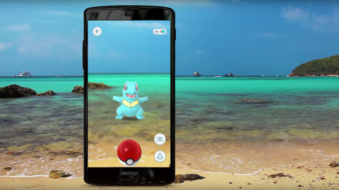 Pokémon Go, a classic example of location-based mobile augmented reality