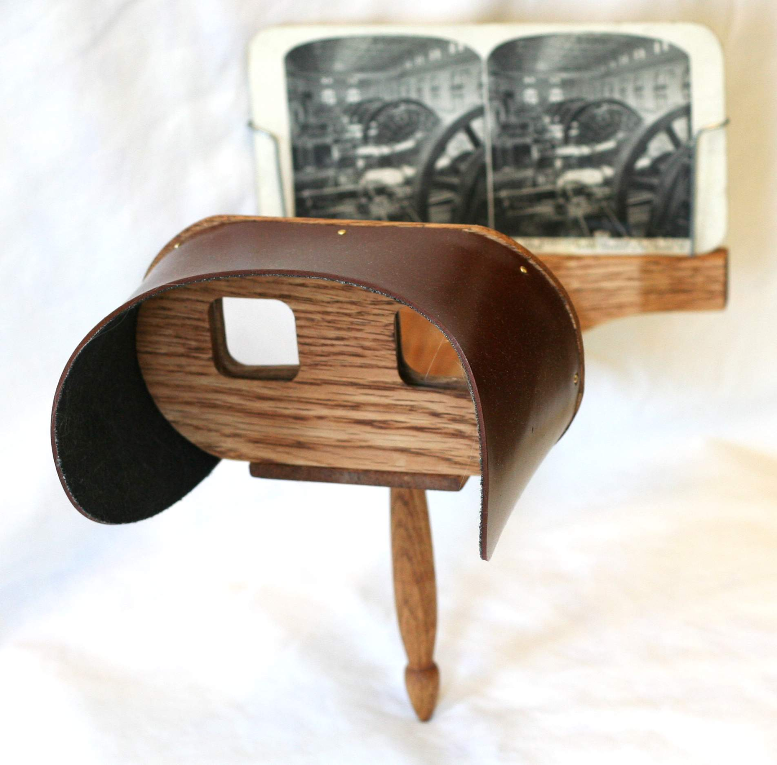 A stereoscope by Oliver Wendell Holmes