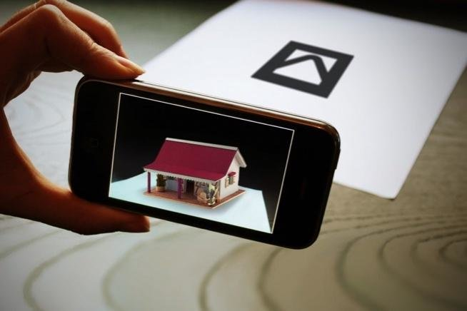 An example of marker-based augmented reality