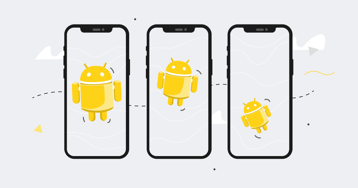 android mobile phone animations