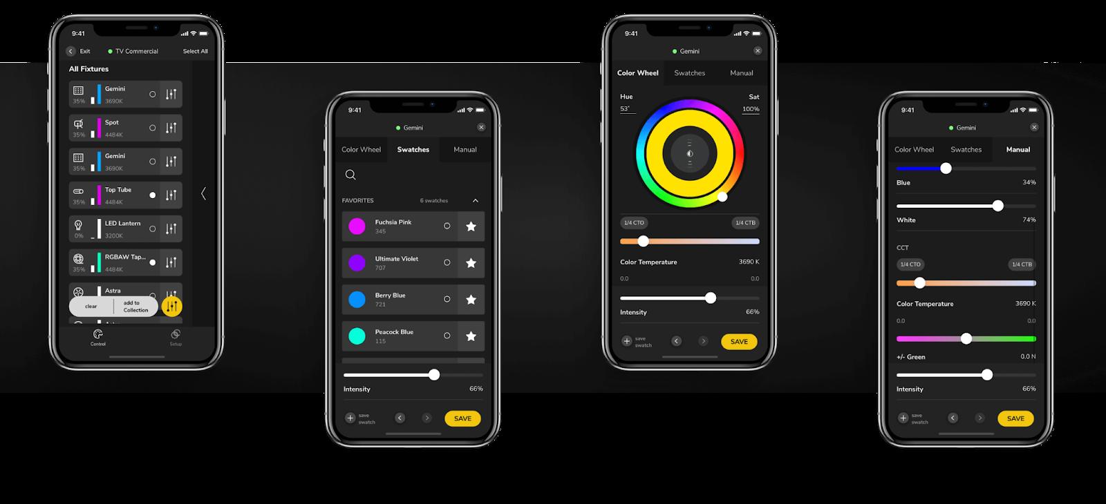 lighticians ios mobile app design