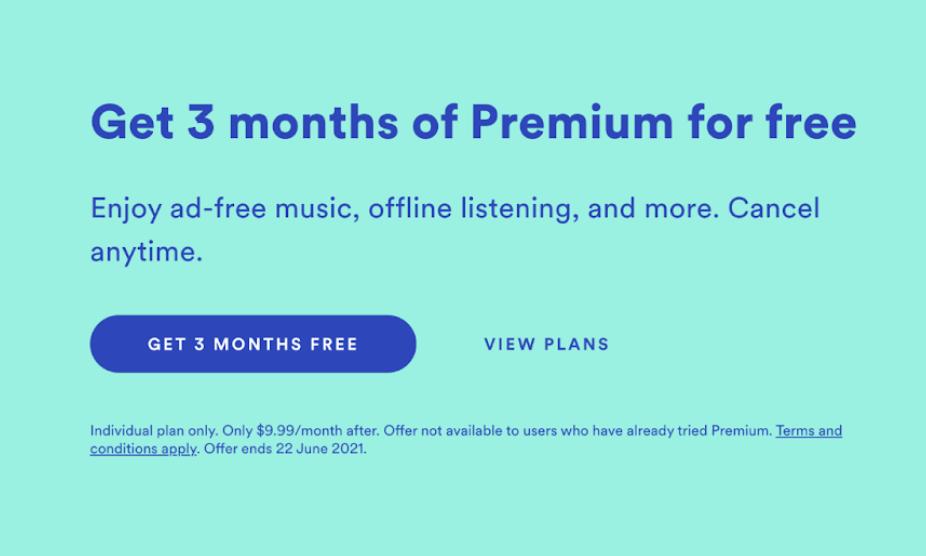 Spotify premium model example