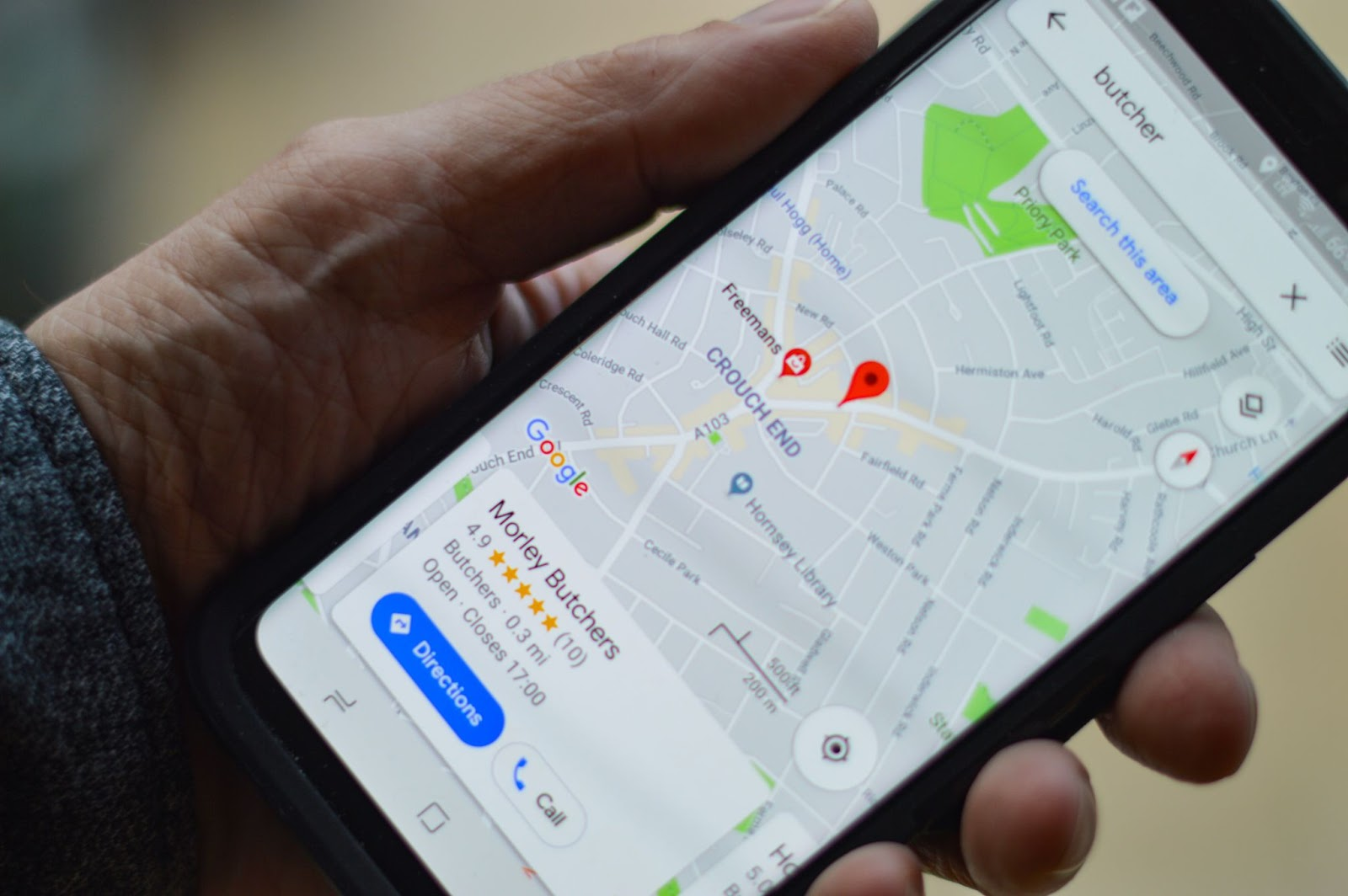 Google Maps location-based services