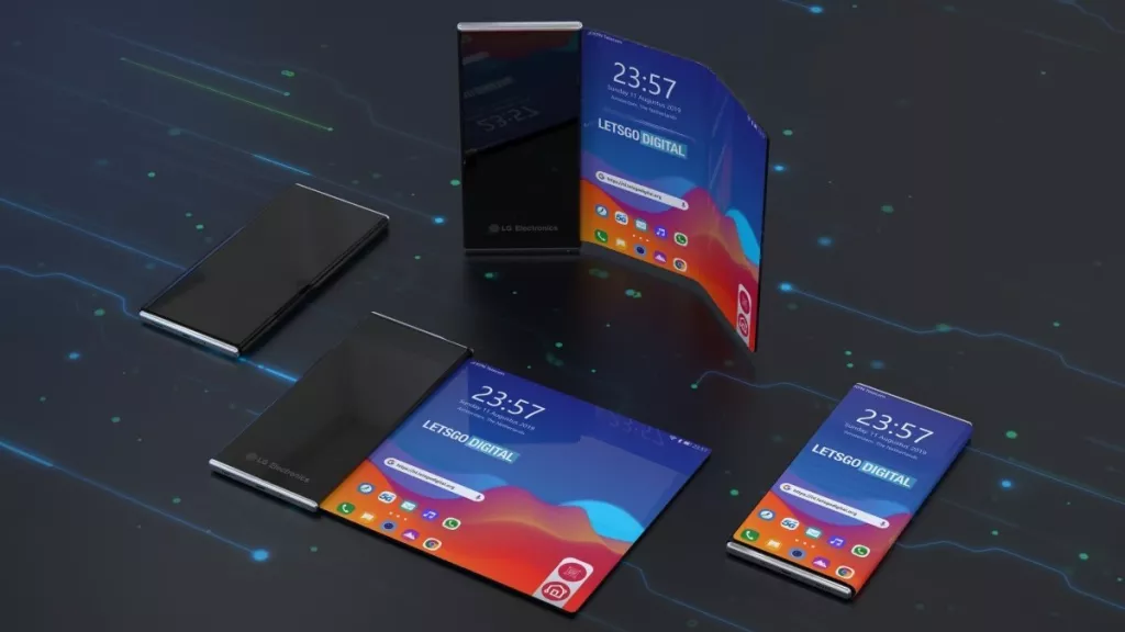 a foldable phone made by LG Electronics