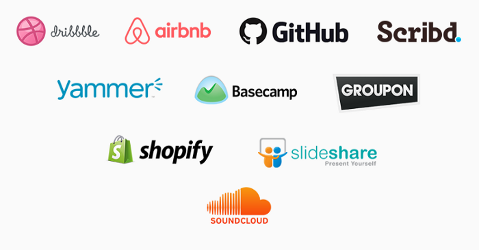 logos on companies that use ruby on rails