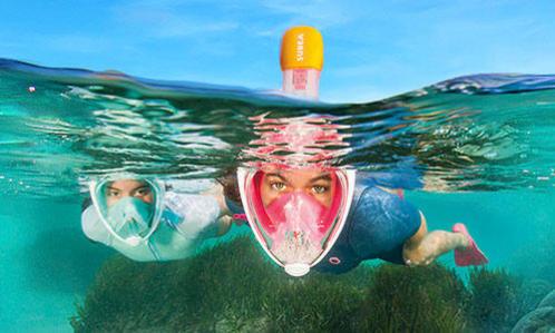 snorkeling people