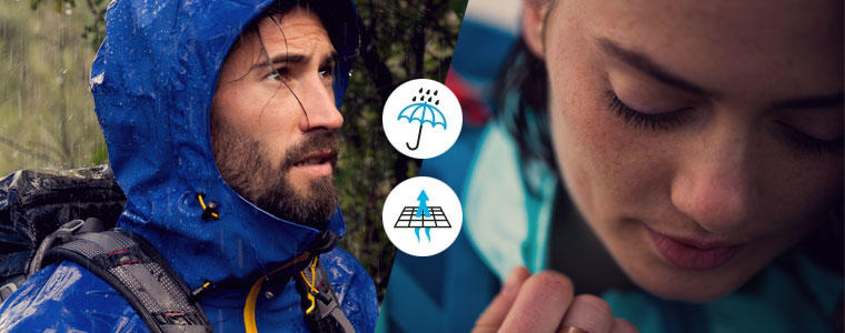waterproof and breathable garments