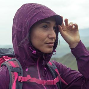 girl in a waterproof jacket