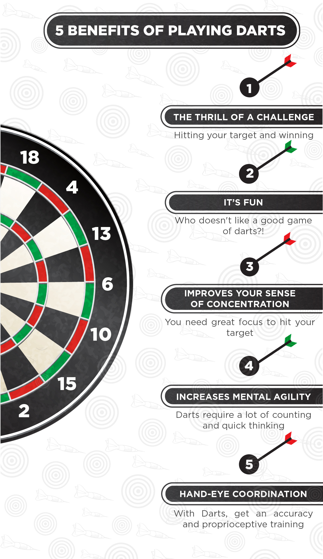 5 Benefits of Playing Darts