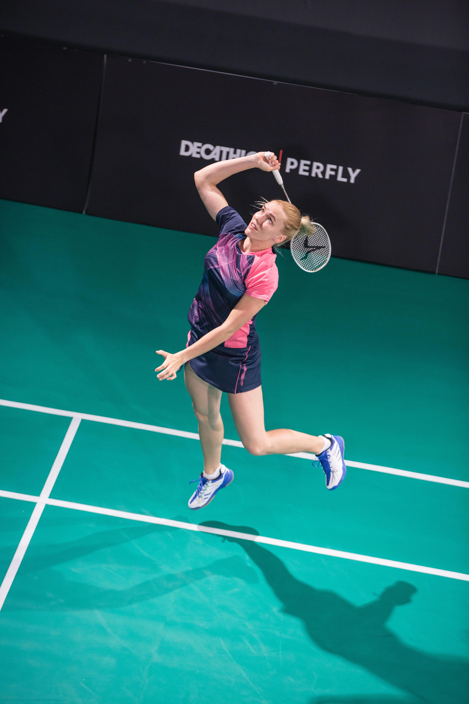 jumping smashing technique in badminton