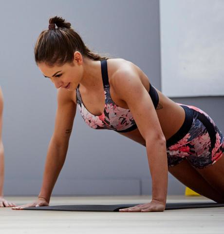 power push up morning exercise