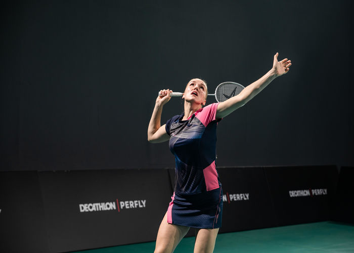 forehand smash technique in badminton