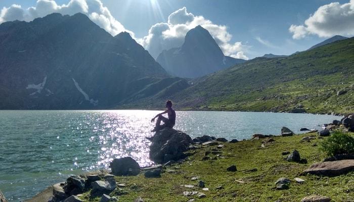 kashmir great lakes in himalayas