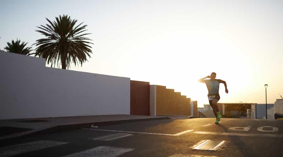 Man on a morning running