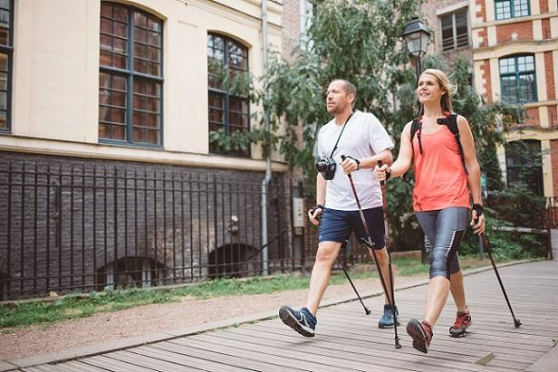 Nordic walking people