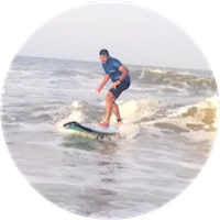 Binson k babu surfing experience