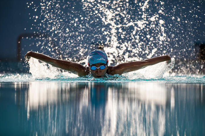 butterfly swimming position