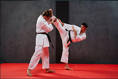 adults practicing Judo