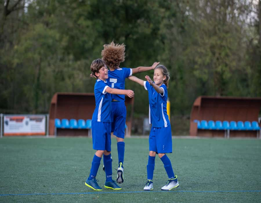 kids on the football ground