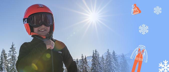 skiing kid