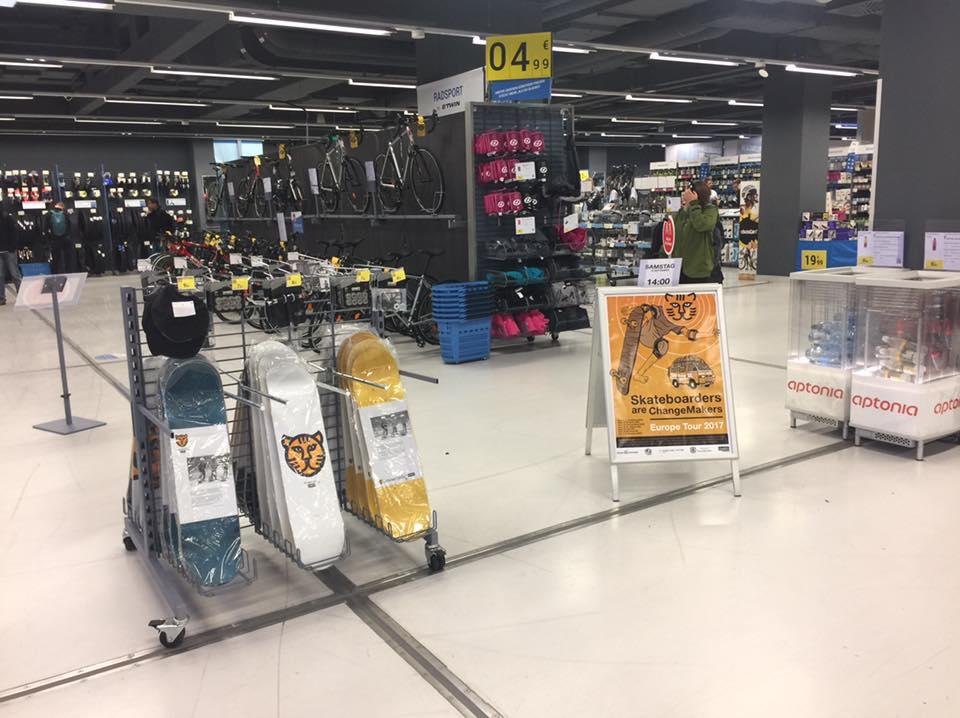 Skateboards in decathlon
