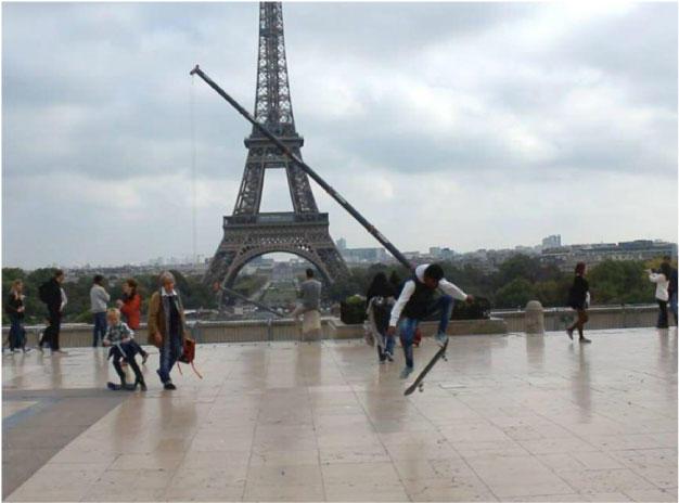 Skateboarders in france