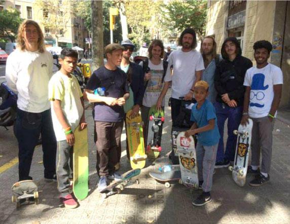 Kids skateboarders
