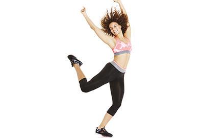 girl dancing wearing a sports bra