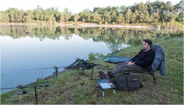 a man enjoying fishing