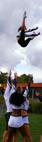 Pompom girl cheerleading