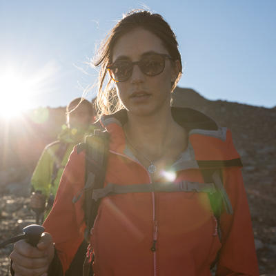 women wearing sunglasses for hiking